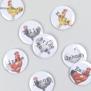 Vintage Style Personalised Hen Party Badge