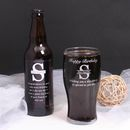 Personalised Monogram Pint Glass Gift Set