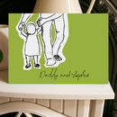 Daddy And Me Baby Steps Father's Day Card A5