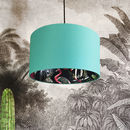 Midnight Blue Chi Miracle Wallpaper Lampshades In Jade