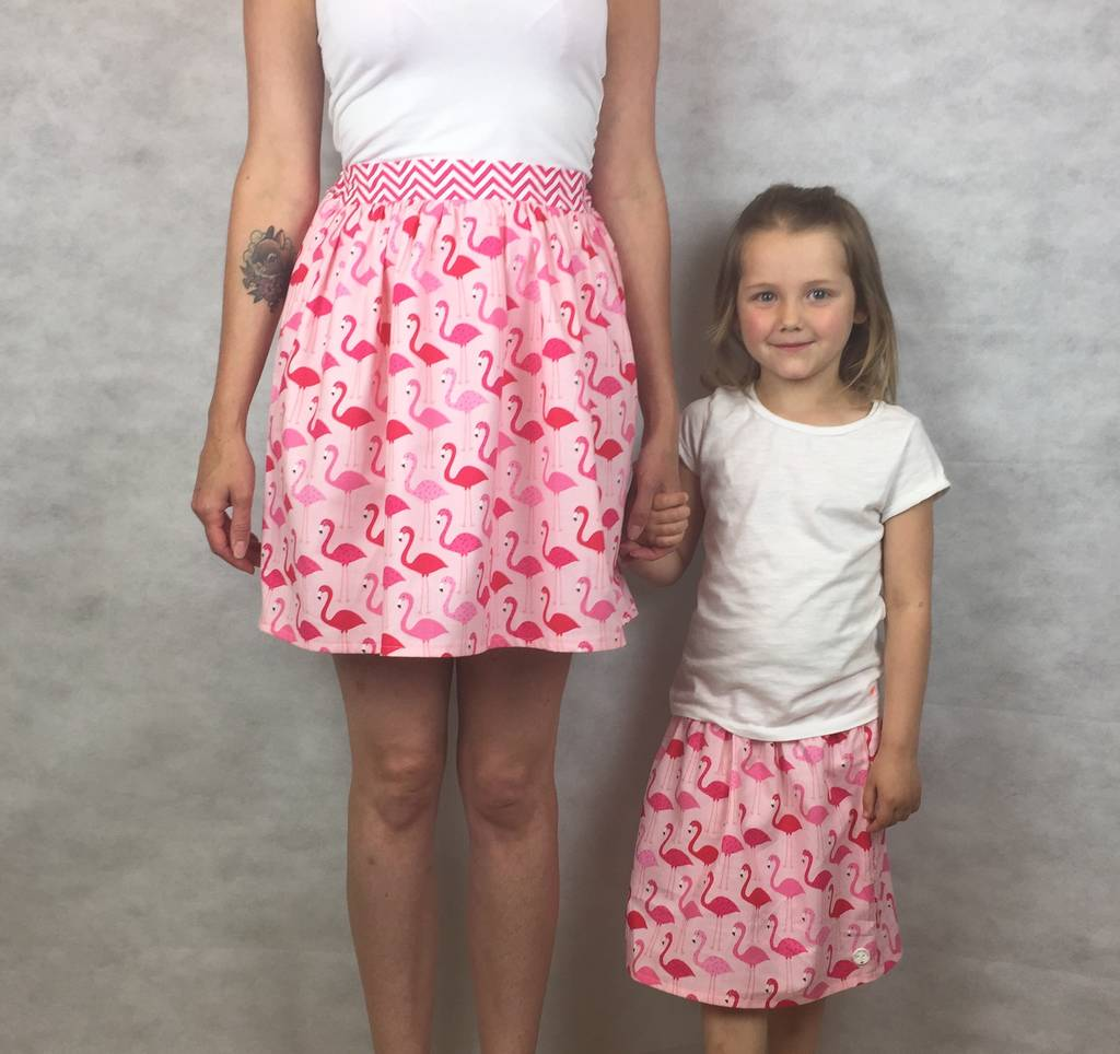 2bc0bdb9d mother and daughter matching flamingo skirts set by lily & giraffe ...
