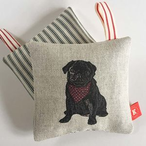 Black Pug Lavender Bag - decorative accessories