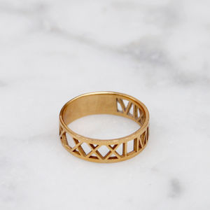 Roman Numeral Ring - 60th birthday gifts