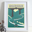 Grand Depart Yorkshire 2014 Bike Poster Art Print