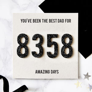 Personalised Amazing Days Together Card - father's day cards
