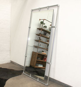 Kucera Full Length Galvanised Steel Pipe Framed Mirror - mirrors