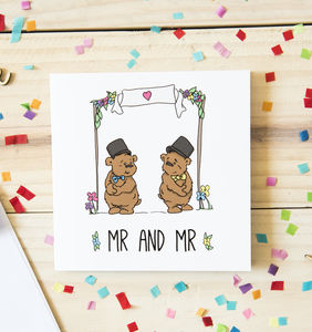 Mr And Mr Wedding Card For Same Sex Couples
