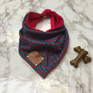 Nafali Luxury Dog Bandana Neckerchief - dogs