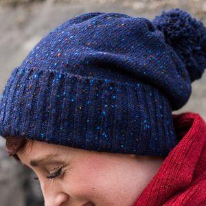 Merino Wool Knitted Bobble Hat