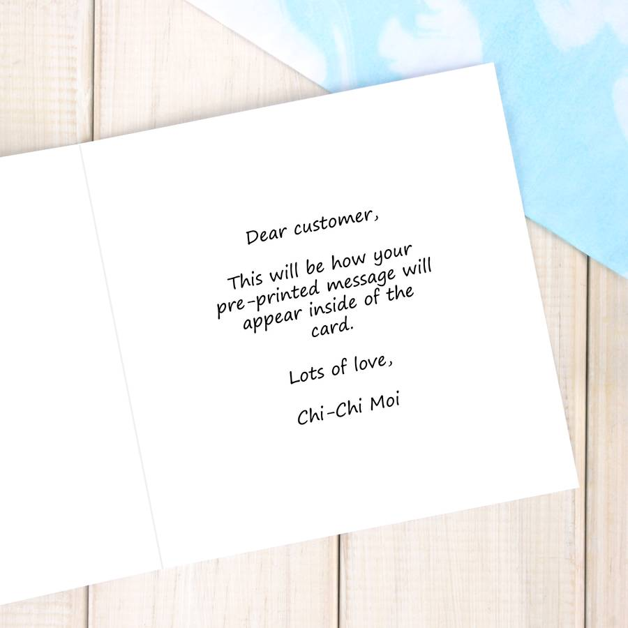 Inside Personalised Card Message
