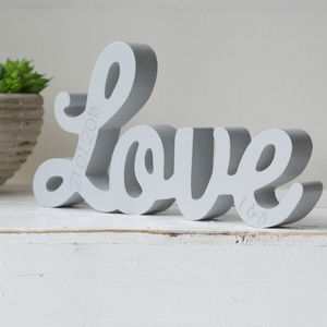 Personalised Love Standing Word - decorative accessories