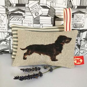 Wire/Rough Haired Dachshund Lavender Bag