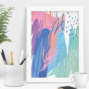 Colour Abstract Art Print - modern & abstract