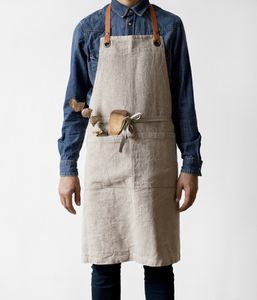Linen And Leather Apron