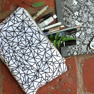Geometry Chaos Pouch - gifts for teenagers