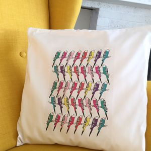 Patterned Bird Cushion Cover - bedroom