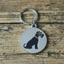 Black Schnauzer Dog ID Name Tag