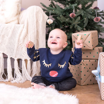 Antler Children's Christmas Jumper