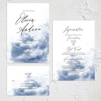 'Modern Scribe' Artist Inspired Wedding Invitation
