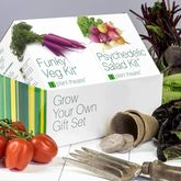 Funky Veg Kit and Psychedelic Salad Kit - garden