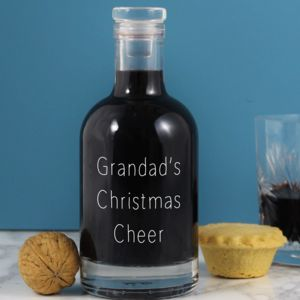 Personalised Christmas Cheer Decanter