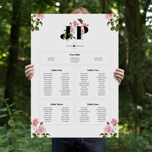 Botanical – Wedding Table Plan A2 - room decorations