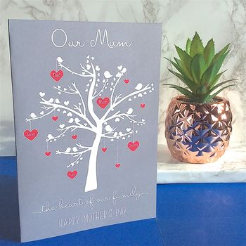 Mother's Day Card / A5 Print With Your Family Tree