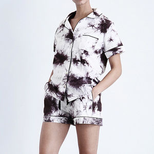 Tie Dye Top And Shorts Set - lingerie & nightwear