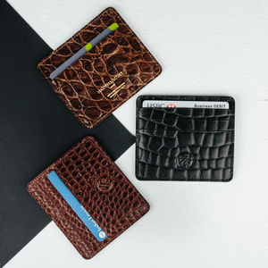Handmade Small Leather Card Holder.'The Marco Croco' - card holder