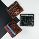 Handmade Small Leather Card Holder.'The Marco Croco'