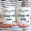 Personalised Crazy Cat Lady Mug Or Crazy Cat Man