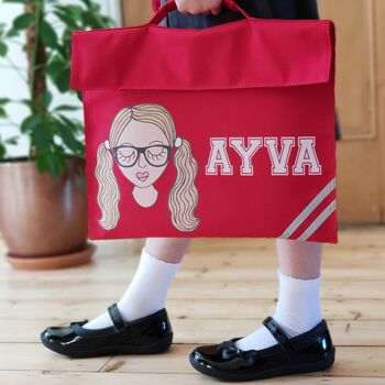 Personalised Create Your Own School Book Bag