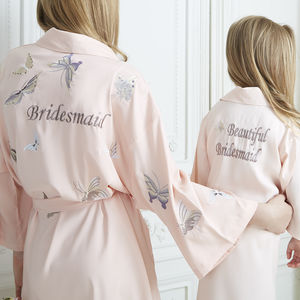 Girl's Personalised Bridesmaid Flower Girl Gown - the morning of the big day