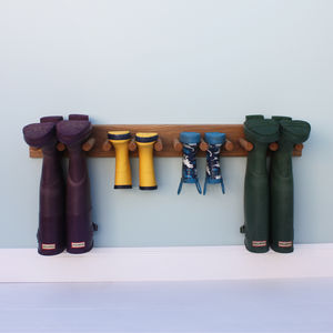Oak Welly Rack - garden
