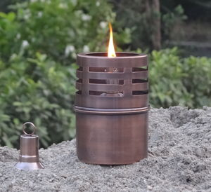 Copper Garden Oil Lamp - garden sale