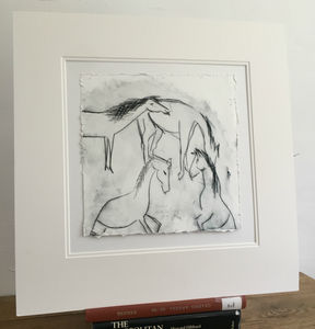 'Horses' Drypoint Print, Edition Of 12