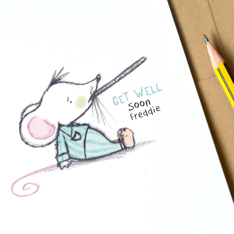 Get Well Soon Mouse Card