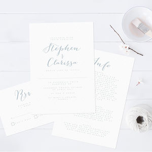 Bliss Wedding Invitation Set - invitations