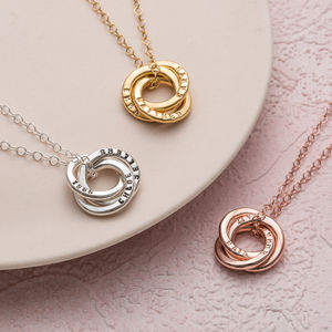 Personalised Mini Russian Ring Necklace - for new mums