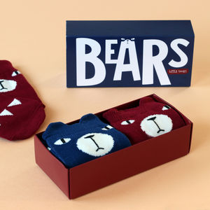 Bears Knee High Socks Gift Set - children's socks