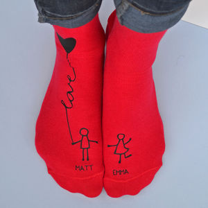 Personalised Me And You Socks - love tokens