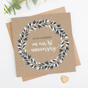 Husband 1st Wedding Anniversary Card