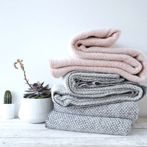 Blush Eco Lambswool Woven Blanket - sale by category