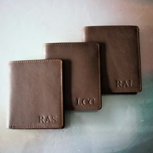 Best Man Gift Luxury Leather Billfold Wallet - wallets & money clips