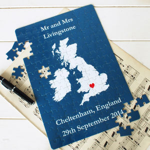 Anniversary Map Jigsaw