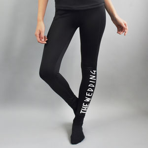 'Sweating For The…' Personalised Sports Leggings - women's fashion