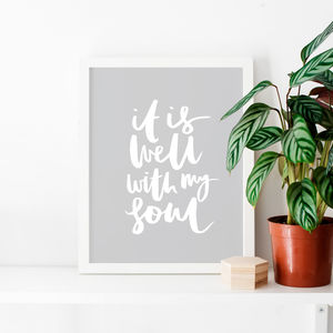 'It Is Well With My Soul' Typographic Print