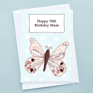 'Butterfly' Personalised Birthday Card - birthday cards