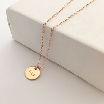 Rose Gold Initial This Necklace