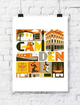 Camden London Typographic Print